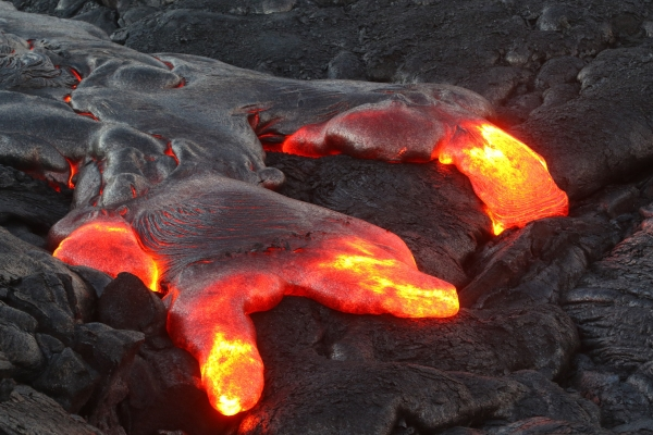 September 2017: Elizabeth Burrt - Lava on Kilauea