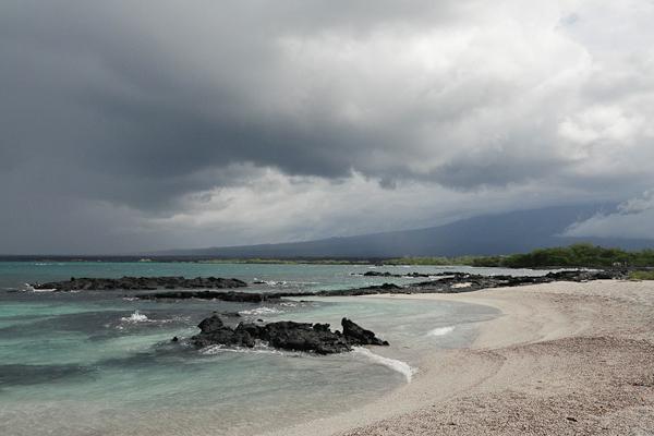 Galapagos Island Primeval Volcanic Landscape