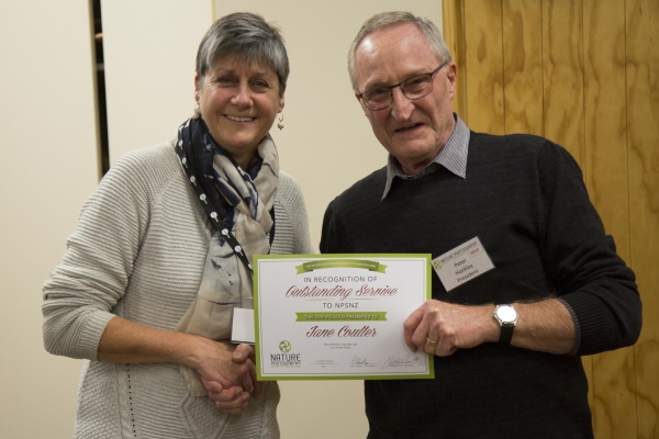 Jane receives Outstanding Service Award